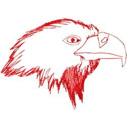 Eagle Head Ragwork embroidery design