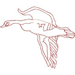 Goose Ragwork embroidery design