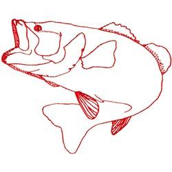 Bass Ragwork embroidery design
