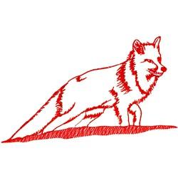 Fox Ragwork embroidery design