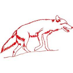 Coyote Ragwork embroidery design