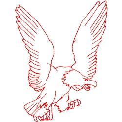 Eagle Ragwork embroidery design