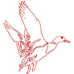 Duck Ragwork embroidery design