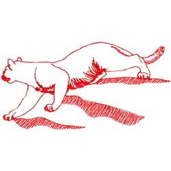 Bobcat Ragwork embroidery design