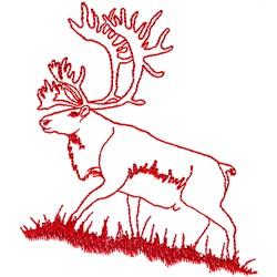 Caribou Ragwork embroidery design