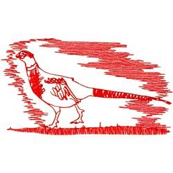 Pheasant Ragwork embroidery design