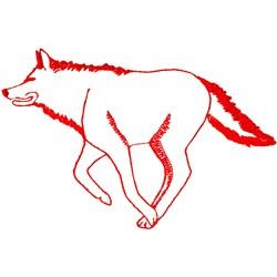 Wolf Ragwork embroidery design
