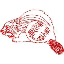 Beaver Ragwork embroidery design