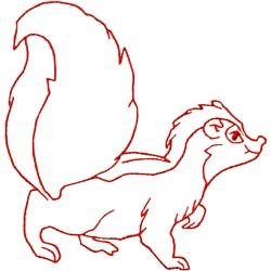 Skunk Ragwork embroidery design