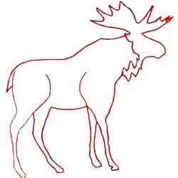 Moose Ragwork embroidery design