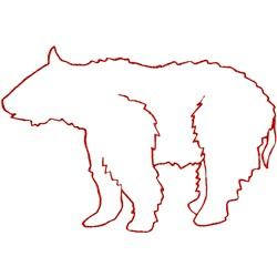 Bear Ragwork embroidery design