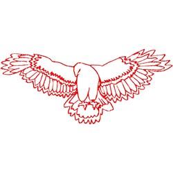 Hawk Ragwork embroidery design