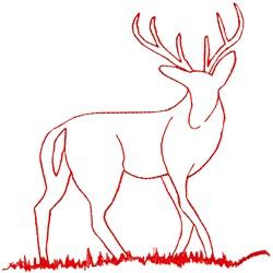 Deer Ragwork embroidery design