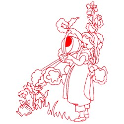 Mary Quite Contrary embroidery design