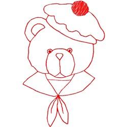 Sailor Teddy Bear embroidery design