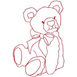 Teddy Bear Ragwork embroidery design
