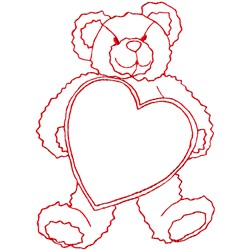 Ragwork Teddy Heart embroidery design