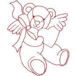 Angel Bear Ragwork embroidery design