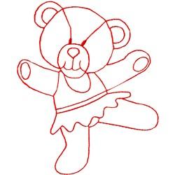 Dancing Bear Ragwork embroidery design