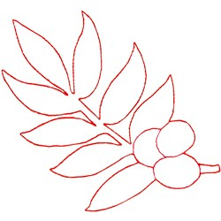 Olive Branch Ragwork embroidery design