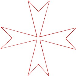 Maltese Cross Ragwork embroidery design