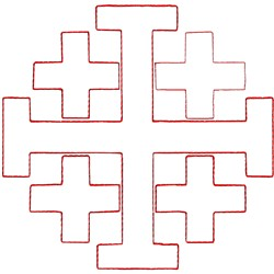 Jerusalem Cross Ragwork embroidery design