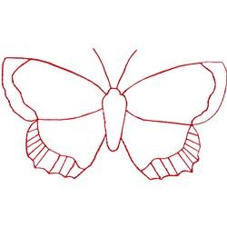 Butterfly Ragwork embroidery design