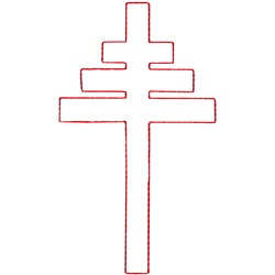 Papal Cross Ragwork embroidery design