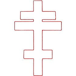 Byzantine Cross Ragwork embroidery design