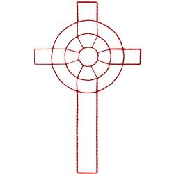 Celtic Cross Ragwork embroidery design