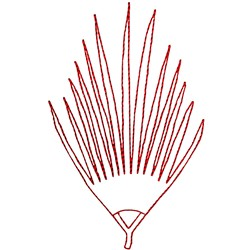 Palm Branch Ragwork embroidery design