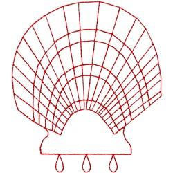 Shell Ragwork embroidery design