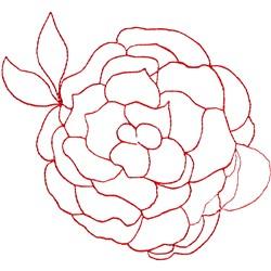 Rose Ragwork embroidery design