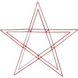5 Point Star Ragwork embroidery design