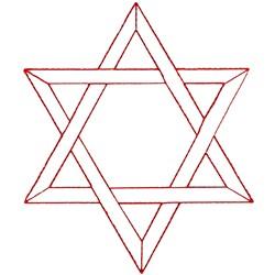 Star of David Ragwork embroidery design