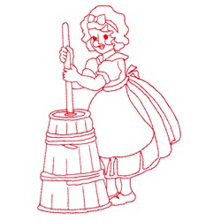 My Maid Mary embroidery design