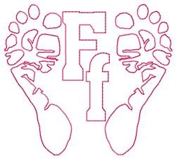 Feet F embroidery design
