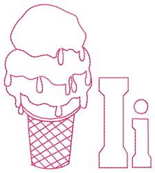Ice Cream I embroidery design