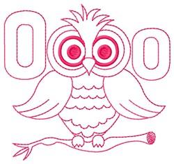 Owl O embroidery design