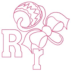 Rattle R embroidery design