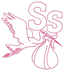 Stork S embroidery design