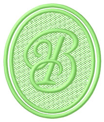 Oval Letter B embroidery design