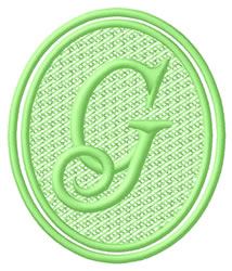 Oval Letter G embroidery design