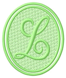 Oval Letter L embroidery design