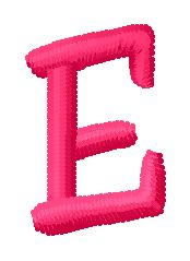 Simple Font E embroidery design
