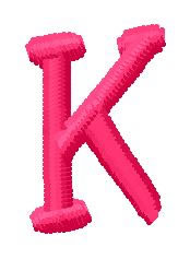 Simple Font K embroidery design