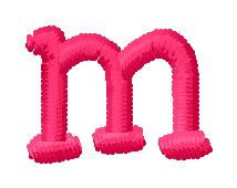 Simple Font m embroidery design
