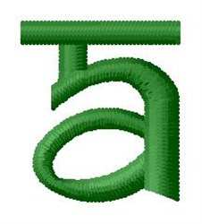 Hindi Alphabet A embroidery design
