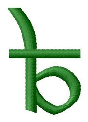 Hindi Alphabet B embroidery design