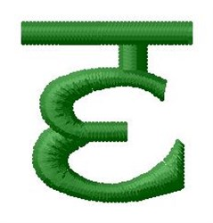 Hindi Alphabet E embroidery design